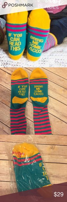 Tacos Socks!!!  Love these!!! Comes in original packaging very limited quantities Accessories Hosiery & Socks