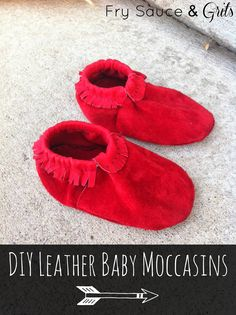 DIY Leather Baby Moccasins