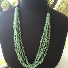 Aventurine & leather multi stand necklace Multi strand Aventurine necklace.  New and never worn.  Beautiful but I just have too much!  Thank You for Shopping By! PayPal  Low Balling  Drama  Comment Negotiations  Trades (Very selective) Bundles Offer Button QVC Jewelry Necklaces