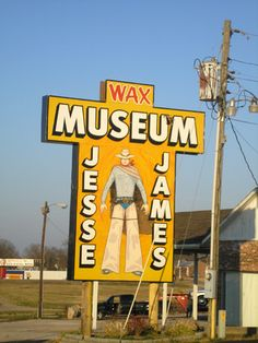 The Antique Toy & Truck Museum, which closed in 2009, and the Jesse James Wax Museum, still open today, stand side by side on the South Service Road in Stanton, Missouri.