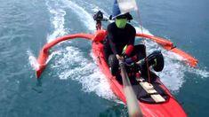 Motorized Kayak + Self-made Outrigger Best Fishing Kayak, Usa Fishing, Fishing Boats, Fishing Stuff, Sailing Kayak, Ocean Kayak, Motorized Kayak, Kayak Outriggers, Jackson Kayak
