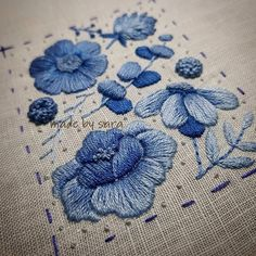 #embroidery #dmc #handmade #summer #flower #needleart #beautiful #stitch #blue #자수타그램 #여름자수 #꽃자수 #도안작업 #프랑스자수