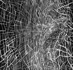 Linocut by Sandra Jurczyńska, via Behance