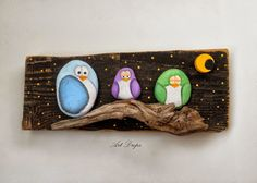Painted Rock Animals, Painted Rocks, Pet Rocks, Owl Bird, General Crafts, Stone Painting, Rock Painting, Pebble Art, Diy Projects To Try