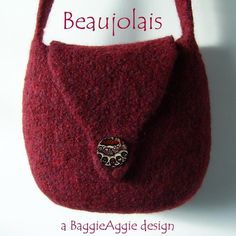 No-Sew Felted Bag / ... by BaggieAggie | Knitting Pattern - Looking for your next project? You're going to love No-Sew Felted Bag / Purse - Beaujolais by designer BaggieAggie. - via @Craftsy
