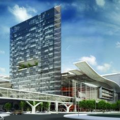 Cape Town International Convention Centre (CTICC) expansion. Construction due to commence in 2013. Will consist of two floors of convention space and an office tower. Designed by Makeka Design Lab, VDMMA and Stauch Vorster Architects.