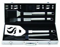 bbq tools grills Grill Tool Set BBQ Barbecue accessories Spatula Gas Steel new #Cuisinart