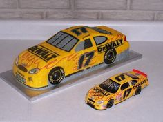 "2002 DeWalt Ford  - Matt Kenseth - 1/12 scale cake (16"" long x 6"" wide x 4.5"" high) compared to a 1/24 scale die cast"