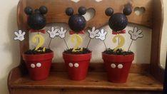 Pedazos de centro con temática Mickey mouse por partygoodz en Etsy