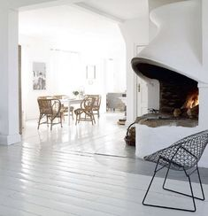 Mod fireplace... Just how do I childproof this?! But it's a beautiful thing!!  (Méchant Design, Danish)