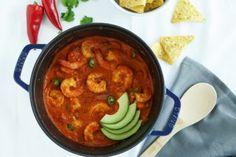 Cazuela de Camarones (Shrimp in Spicy Tomato Sauce)