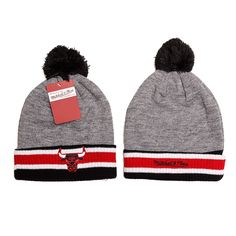 Mitchell and Ness Los Angeles Chicago Bulls Knit Beanie Hats 9171! Only $7.90USD