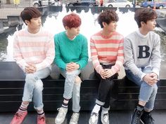 Sunyeol, Wooshin, Hwanhee, Xiao, aka my bias and my 3 bias wreckers