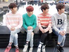 Sunyeol, Wooshin, Hwanhee, Xiao, aka my bias and my 3 bias wreckers