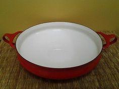 DANSK KOBENSTYLE RED 10 Paella Pan, First Kitchen, Functional Kitchen, Kitchen Collection, Pie Dish, Wok, Cookware, Mid Century, Antiques