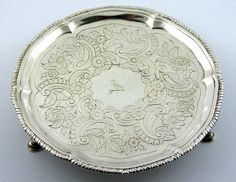 244 Year old Superb 1774 Antique Solid Sterling Silver Dish with The Devenish Family Crest ? - The Collectors Bag