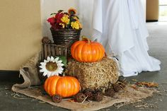 rustic fall wedding guest book table decorations