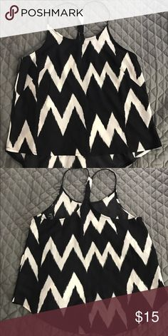 H&M Aztec print tank top Cute A-line cut tank top, only worn a hand full of times.  Can be layered under a jacket for the fall. H&M Tops Tank Tops