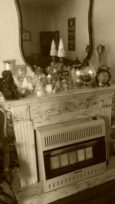 My Christmas Fireplace & Mantle 2013