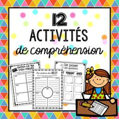 This French Comprehension BUNDLE is packed with activities that your students… French Teacher, Teaching French, First Year Teaching, Core French, French Education, French Classroom, French Resources, French Immersion, French Lessons