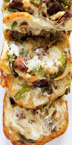 Philly Cheese Steak Pull-Apart Bread - so easy to prepare using Pillsbury Grands Biscuits!