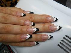 Black and white Nails @Abigail Phillips Regan Truax://www.beautylish.com/photos/nail-color