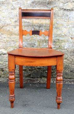 Antique Furniture - New Arrivals : Mid 19th Century Set of 6 Scottish Elm & faux Rosewood Kitchen Dining Chairs HUTCHISONANTIQUES.COM