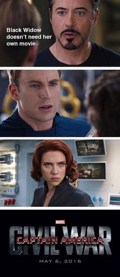 Na-ah!! I dont think so!!! @I_AM_IT i agree with steve on this one! She needs her own movie, tony!!!!