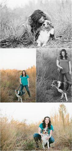 erica houck photography senior portrait shoot photoshoot session puppy dog owner with dog