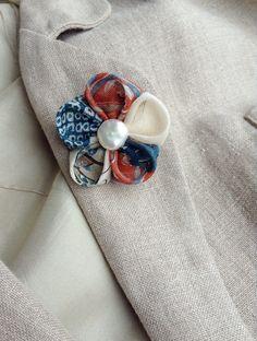 Lapel Flower Pin Kanzashi Japanese Linen Custom Mens Boutonniere by exquisitelapel on Etsy https://www.etsy.com/listing/200217124/lapel-flower-pin-kanzashi-japanese-linen