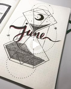 We are halfway through the year, and it's time to show off June bujo layouts. Let's check out these gorgeous hello June bullet journal layout ideas. Bullet Journal June, Bullet Journal Monthly Spread, Bullet Journal Writing, Bullet Journal Themes, Bullet Journal Layout, Bullet Journal Inspiration, Book Journal, Journal Ideas, Journals