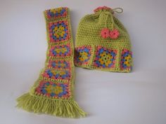 Handmade crochet Hat and Scarf set Girl set Girl gift Christmas gift (39.00 USD) by NiaBoutique7