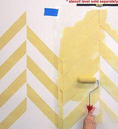 Herringbone Allover Stencil  See more Geometric/Allover Stencil Wall Patterns: http://www.cuttingedgestencils.com/wall-stencils-geometric-stencils.html