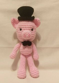 Excited to share the latest addition to my #etsy shop: Amigurumi Crocheted Pig - Farm Animal - READY TO GO - crochet pig http://etsy.me/2DLDIyB #toys #christmas #crochet #toy #amigurumi #stuffedtoy #mixedkreations #plushie #pig
