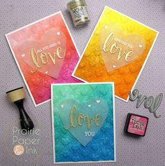 Hero Arts Love Stamp n Cut, vellum heart, We R Memory Keepers Next Level EF, Distress Inks on watercolor paper   video tutorial https://youtu.be/zJGqXd51d2U