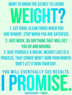 Secrets to assist loosing weight