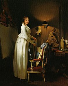 Louis-Léopold Boilly, The Artist's Wife in His Studio, c. 1795-1800.