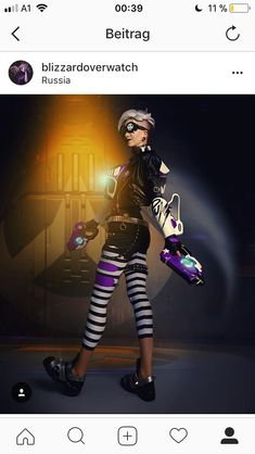 Overwatch - Tracer Punk Cosplay