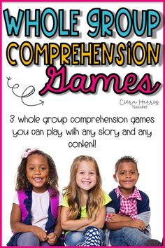 Want to get all of your students engaged in the lesson? Try these three unique and fun whole group comprehension games! Perfect for any elementary grade, these fun and FREE game ideas work with any reading skills or strategies and are perfect for reviewing reading comprehension! Help keep your students engaged and active! These fun and easy reading games and perfect for teaching all reading skills and your students will love them! (2nd grade, 3rd grade, 4th grade) (test review)