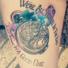 Doctor Who space tattoo