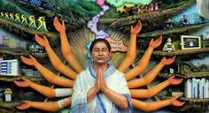 Maa Mamata: Bengal pandal designs Durga as Didi Mamata Banerjee for upcoming puja   This one of a kind Durga-like idol of Bengal Chief Minister Mamata Banerjee has created quite a buzz. It depicts all the work she's done in the past five years.  An idol of goddess Durga for the upcoming mega bonanza has been modelled onBengal Chief Minister Mamata Banerjee in Chakdah a suburban town in Bengal.  The idol inspired by the leader shows her dressed in her signature white-and-blue-borderwhite sari…