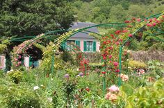 Claude Monet's House in Giverny France. #ClaudeMonet #Garden #Giverny #France