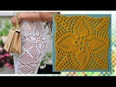 Мотив крючком для платья от Эммы Остергрен - YouTube