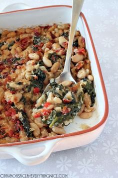 Spinach and White Bean Gratin.