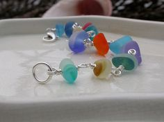 Sea glass jewelry and beach glass jewelry with rare sea glass - by Lisl Armstrong...a P.R. friend...