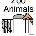 This is a simple book about zoo animals. I use it with students with Autism. The Picture Communication Symbols ©1981–2011 by Mayer-Johnson LLC. A...