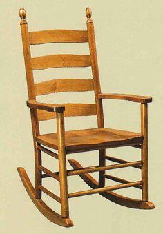 chair Jenny lind oak in rocking adult