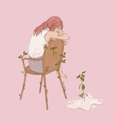 I love you mosterest Cute Illustration, Character Illustration, Cute Wallpapers, Wallpaper Backgrounds, Cover Wattpad, Anime Art Girl, Aesthetic Art, Cute Drawings, Cute Art