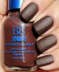Tiny Cocktail Dress, a lovely chic dark brown, a satin/matte finish. From the Ladies Formal Collection. Brown Nail Polish, Matte Nail Polish, Nail Polishes, Nail Blog, Matte Satin, Cute Nail Designs, Couture, Beauty Make Up, Nail Colors
