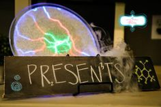 """Decorations and Custom Chalk Signs at """"Radley's 6th Birthday Experiment"""""""
